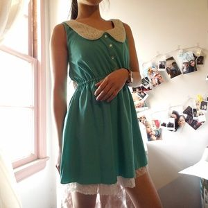 Dresses & Skirts - Tiffany Blue Dress with Wendy Lace Collar